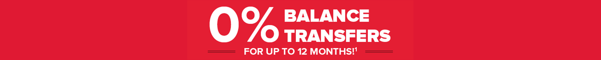 Current Cardholders Promotion | 0% APR Balance Transfers for 12 Months